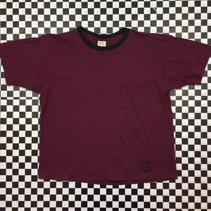 Hanes Other Wear Striped Pocket Tee